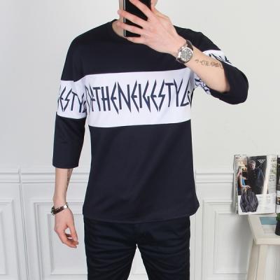 더마인드 RF레터링삼단7부 티셔츠