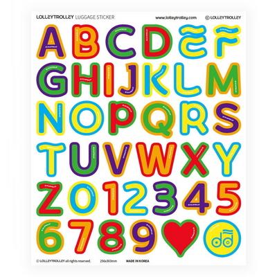 알파벳 숫자 캐리어 스티커