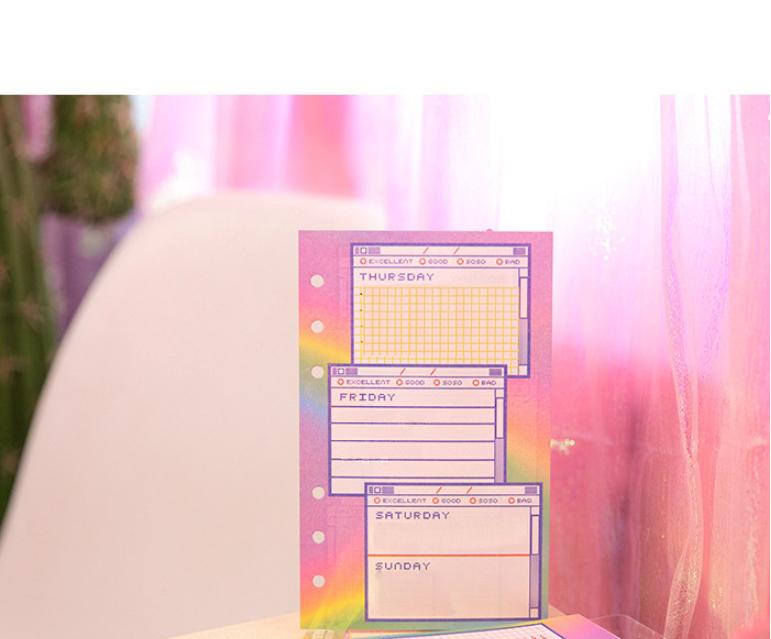 레인보우 홀로그램 6공 다이어리 A6 - 오끼뜨, 18,000원, 만년형, 일러스트
