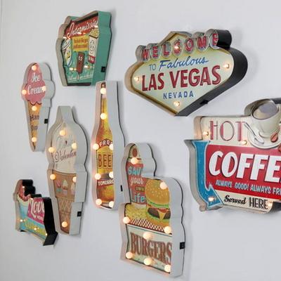 LED 인테리어 전구 햄버거 간판