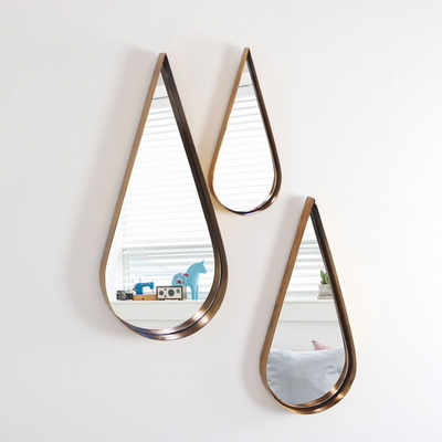 빈티지 인테리어 물방울 골드거울 3SET