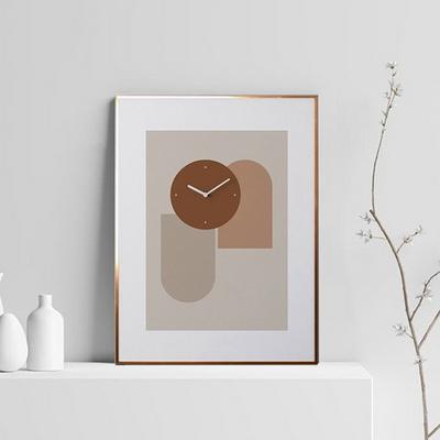 벽걸이 액자시계 기하학무늬 골드프레임 40x50