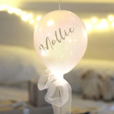 LED 유리풍선 유리별 4type 건전지 파티 걸이 조명 모형 램프