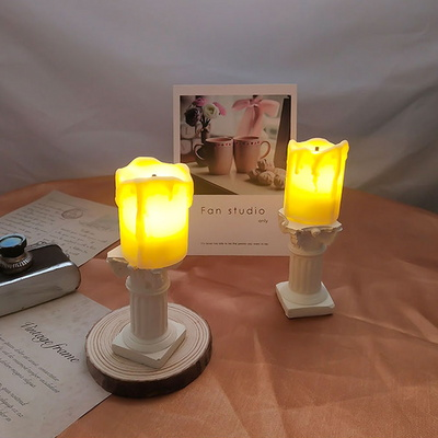 LED 미니초 2TYPE 파티소품 인테리어조명 감성소품 램프