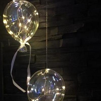 LED 유리풍선 L사이즈 4type 건전지 파티 걸이 조명 모형 램프