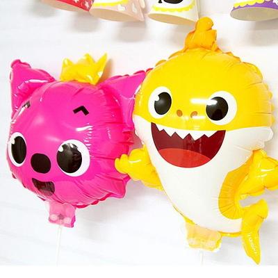 [파티스토리]핑크퐁 아기상어 캐릭터 바람개비풍선