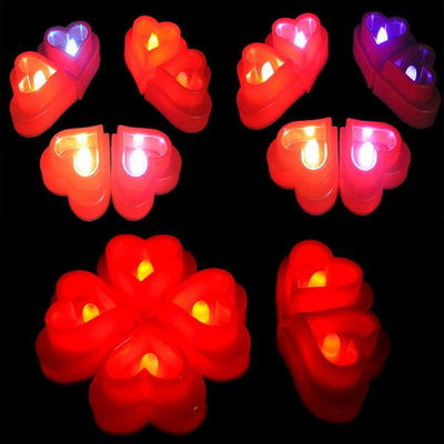 LED티라이트초(대형)하트/무지개.레드색상