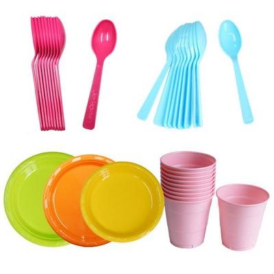 파티 이벤트 테이블용품 포크,스푼,접시 (1개당10set)