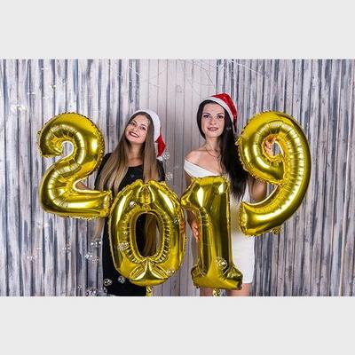 연말파티 신년파티 2019 은박풍선세트(중)