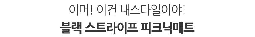 양면방수 피크닉매트 블랙스트라이프 - 헬로미니미, 21,900원, 매트/돗자리, 매트/돗자리/베개
