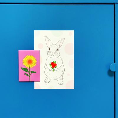 빨간열매 토끼 - 엽서