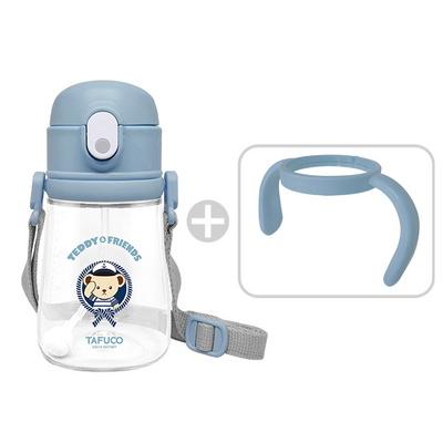 테디베어 프렌즈 트라이탄 빨대컵 360ml 블루 / 목걸이 물병 양손잡이 물병