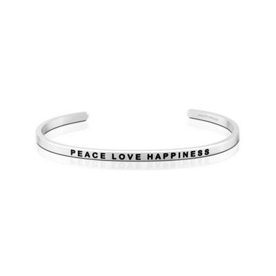 환경 기부팔찌 만트라밴드 PEACE LOVE HAPPINESS 메시지 뱅글팔찌