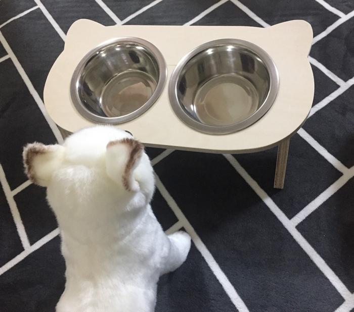 원목 고양이 밥그릇 2구 - 핑크팡크, 19,000원, 식기/실내용품, 급식기