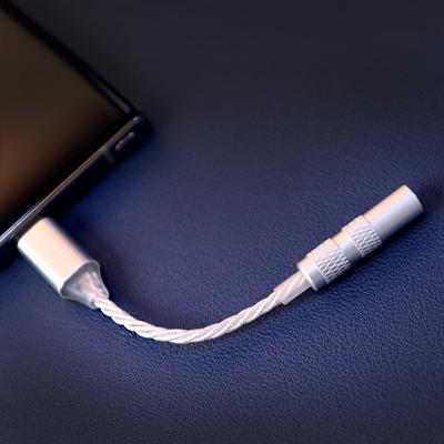센퍼 갤럭시 노트10 C타입 은도금 이어폰 젠더 V3 DAC 내장형