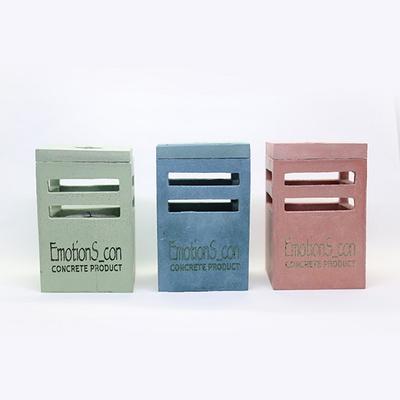 사각 콘크리트 캔들케이스(로고,문구 각인가능)
