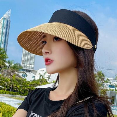 자외선 차단 얼굴소멸 밀짚 선캡 모자