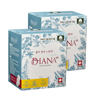안전한 여성용품 냄새잡는 순면생리대 중형 12P 2팩