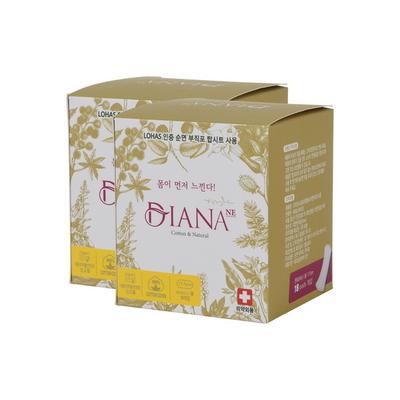 안전한 여성용품 냄새잡는 순면 팬티라이너 롱 18P 2팩
