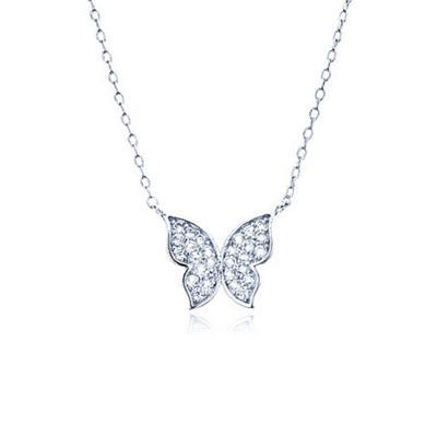 여자 선물 블링블링 버터플라이 나비 체인 목걸이