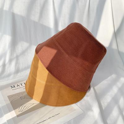 남자 여자 가을 컬러 데일리 숏챙 무지 버킷햇 모자
