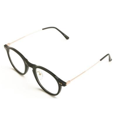 남자 여자 둥근 뿔테 사이드 금테 안경테