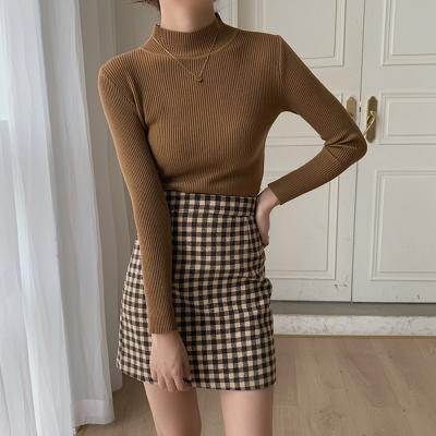 [1+1] 여자 하프 모크넥 반목 11컬러 기본 폴라 티셔츠