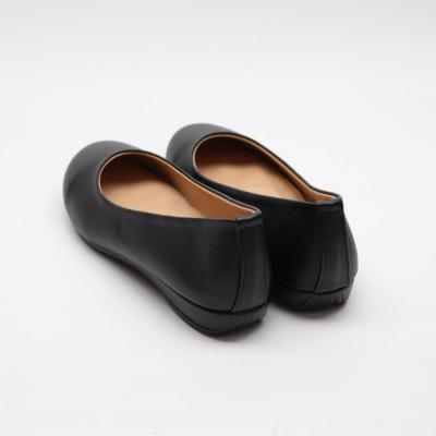 여자 가을 데일리 둥큰코 고무신 가죽 플랫슈즈 신발