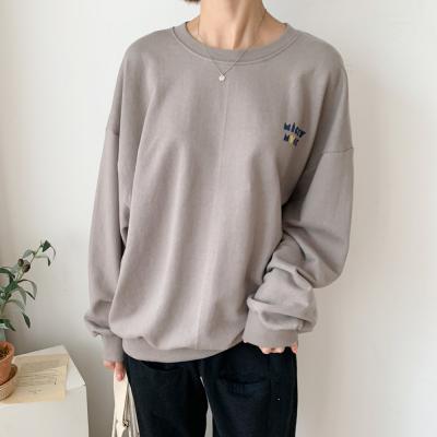 여자 가을 디즈니 정품 미키 레터링 루즈핏 티셔츠