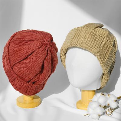 남자 여자 커플 겨울 왕골지 니트 숏비니 챙없는 모자
