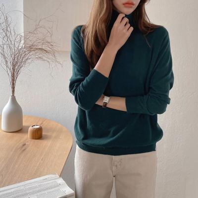 여자 가을 겨울 카시미어 양모 반폴라 스웨타 티셔츠