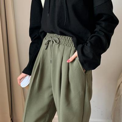 여자 배기슬렉스 기지바지 배기밴딩팬츠 밴댕슬랙스 보이핏 슬랙스
