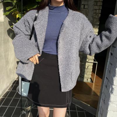 여자 가을 겨울 스판 반목폴라 하프넥 티셔츠