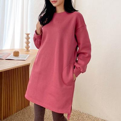 [1+1] 여자 언발란스 오버핏 루즈핏 빅사이즈 라운드 티셔츠