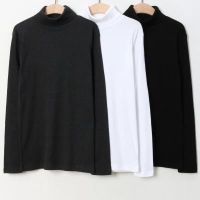 남성 여성 겨울 6컬러 베이직 스판 목폴라 티셔츠