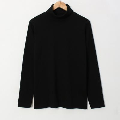 남성 여성 6컬러 부드러운 심플 스판 목폴라 티셔츠