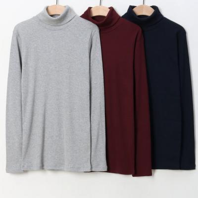 남성 여성 1+1 골지 스판 니트 터틀넥 목폴라 티셔츠