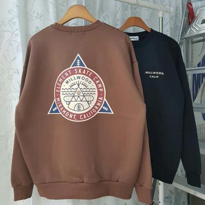남성 여성 기모 캠프 그래픽 레터링 맨투맨 티셔츠