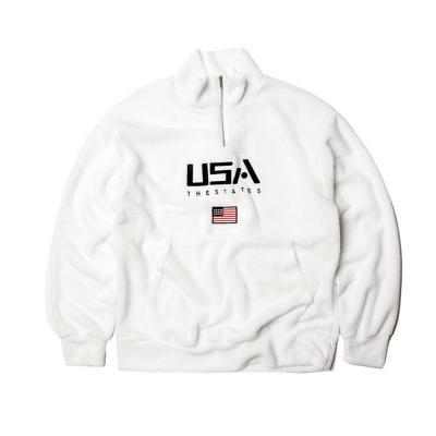남자 여자 양털 커플 아노락 USA 반집업 티셔츠