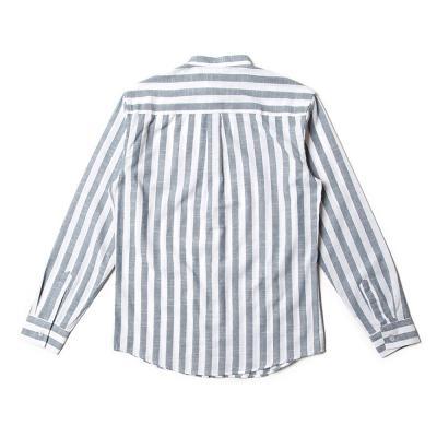 남자 4XL 빅사이즈 차이나카라 스트라이프 긴팔 셔츠
