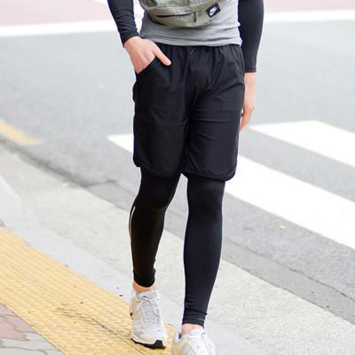 KC인증 남자 레쉬가드 반바지 비치웨어 여름 트레이닝 블랙 반바지