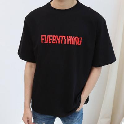 남자 여자 봄 가을 레이어드 반팔 티셔츠
