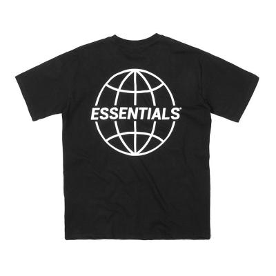 남성 순면 지구본 프린팅 오버핏 봄 여름 반팔 티셔츠
