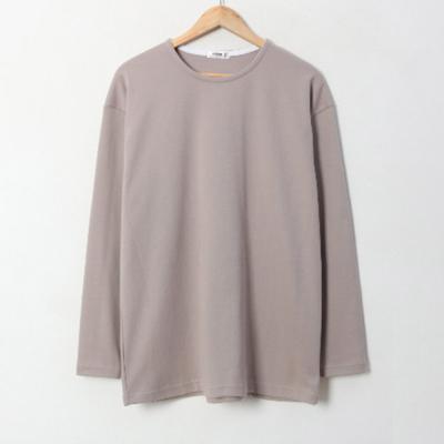 남녀공용 솔리드 봄 여름 바인더 넥 긴팔 티셔츠