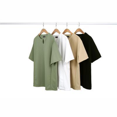 남성 댄디 심플 슬림라인 브이넥 티셔츠