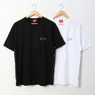 남녀공용 발렌 징포인트 라운드 반팔 티셔츠