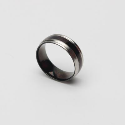 남자 20대 패션링 블랙 배색 주름포인트 반지