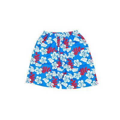 남성 하와이 플라워 패턴 비치웨어 하프팬츠