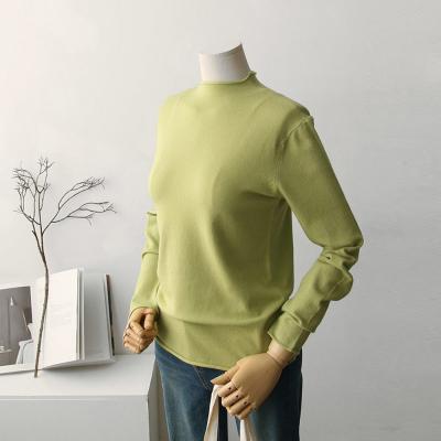 여성 6컬러 돌돌이 반폴라 부들 니트 티셔츠
