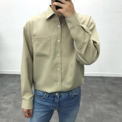 남성 8컬러 가을 겨울 부드러운 오버핏 셔츠